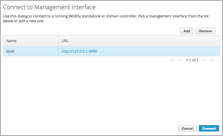Connect to Management Interface